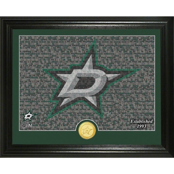 "Dallas Stars ""Mosaic"" Bronze Coin Photo Mint"