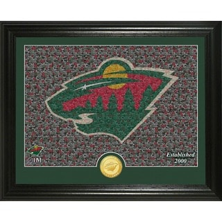 "Minnesota Wild ""Mosaic"" Bronze Coin Photo Mint"