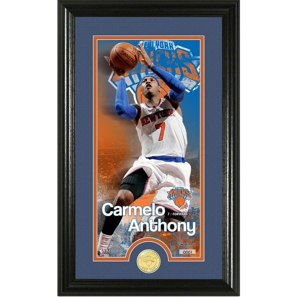 """Carmelo Anthony """"Supreme"""" Bronze Coin Panoramic Photo Mint"""