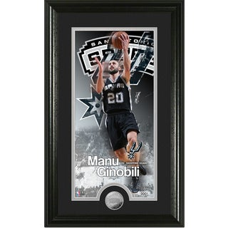 "Manu Ginobili ""Supreme"" Minted Coin Panoramic Photo Mint"