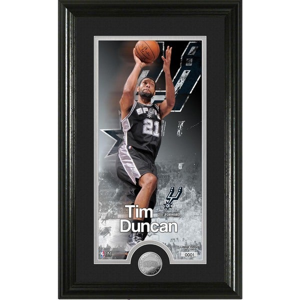 "Tim Duncan ""Supreme"" Minted Coin Panoramic Photo Mint"