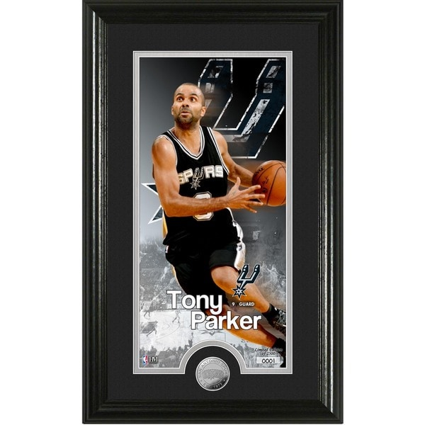 """Tony Parker """"Supreme"""" Minted Coin Panoramic Photo Mint"""