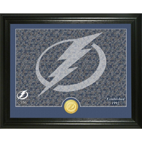 "Tampa Bay Lightning ""Mosaic"" Bronze Coin Photo Mint"