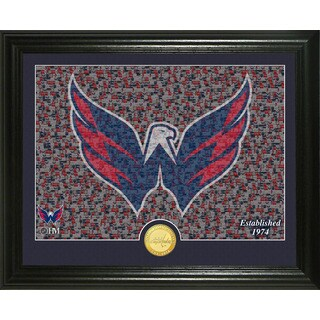 "Washington Capitals ""Mosaic"" Bronze Coin Photo Mint"
