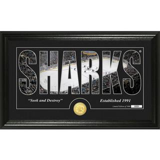 "San Jose Sharks ""Silhouette"" Bronze Coin Panoramic Photo Mint"