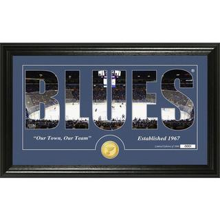 "St. Louis Blues ""Silhouette"" Bronze Coin Panoramic Photo Mint"