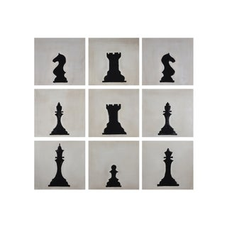 Sunpan 'Ikon' 'Checkmate' 14x14-inch Canvas (Set Of 9)