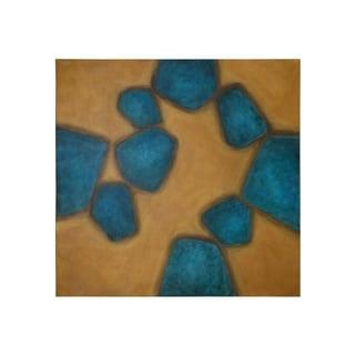 Sunpan 'Ikon' 'Lost Turquoise' 48x48-inch Canvas