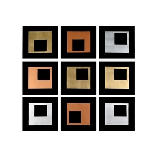 Sunpan 'Ikon' 'Study In Squares' - 14x14-inch Canvas (Set Of 9)