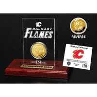 Calgary Flames Etched Acrylic Desktop