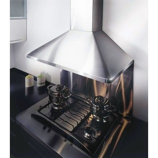 "KOBE RA9436SQB-5 Deluxe 36"" Wall Mount Range Hood, 6-Speed, 700 CFM, LED Lights, Baffle Filters"