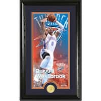 "Russell Westbrook ""Supreme"" Bronze Coin Panoramic Photo Mint"
