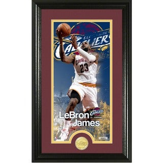 "LeBron James ""Supreme"" Bronze Coin Panoramic Photo Mint"