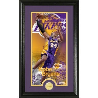 "Kobe Bryant ""Supreme"" Bronze Coin Panoramic Photo Mint"