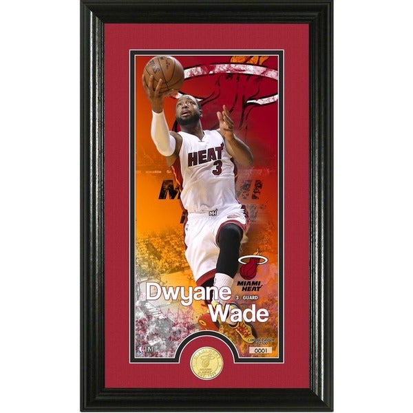 "Dwayne Wade ""Supreme"" Bronze Coin Panoramic Photo Mint"