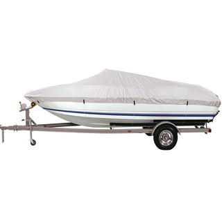 FH Group Silver Medium 90-inch Premium Water-Proof Boat Cover