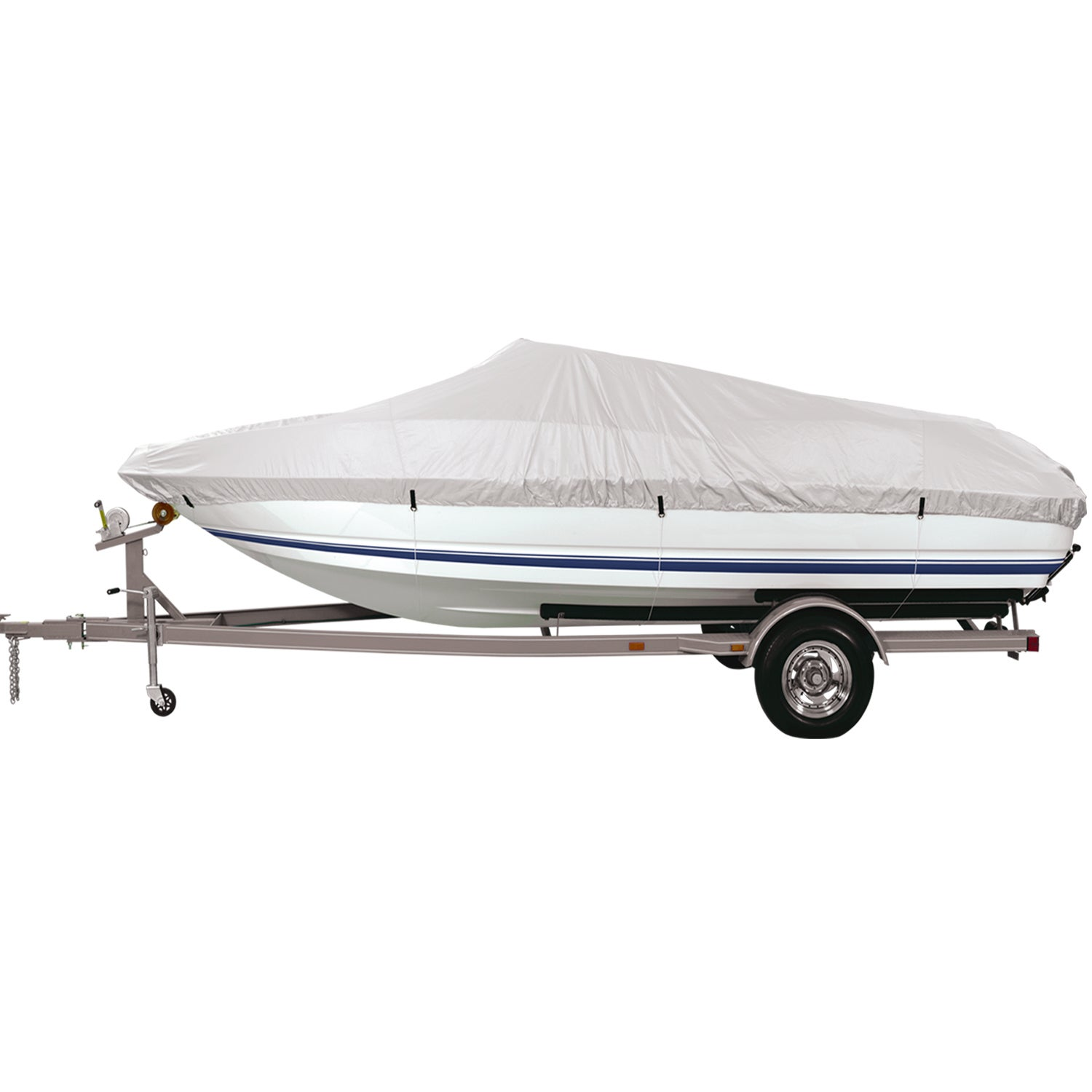 FH Group Silver Small 68-inch Premium Water-Proof Boat Co...