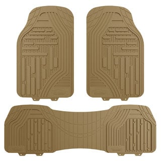 FH Group Tan Supreme Rubber Trimmable Heavy Duty Floor Mats