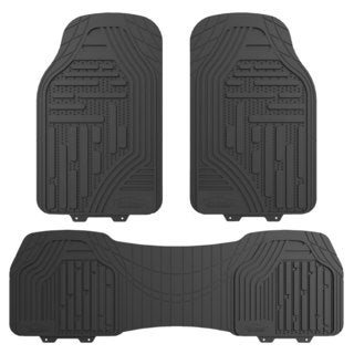 FH Group Gray Supreme Rubber Trimmable Heavy Duty Floor Mats