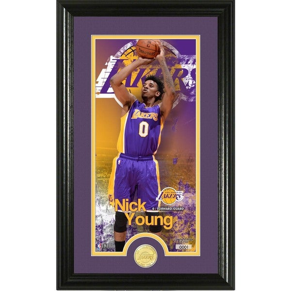 """Nick Young """"Supreme"""" Bronze Coin Panoramic Photo Mint"""