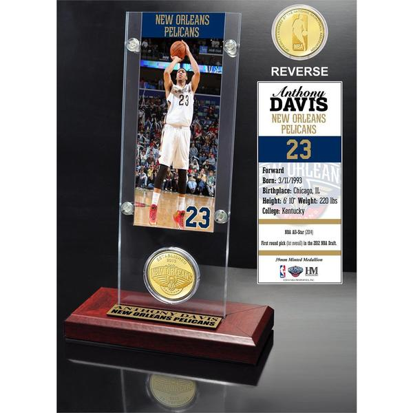 Anthony Davis Ticket & Bronze Coin Acrylic Desk Top