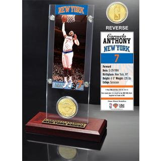 Carmelo Anthony Ticket & Bronze Coin Acrylic Desk Top