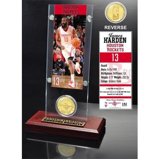 James Harden Ticket & Bronze Coin Acrylic Desk Top