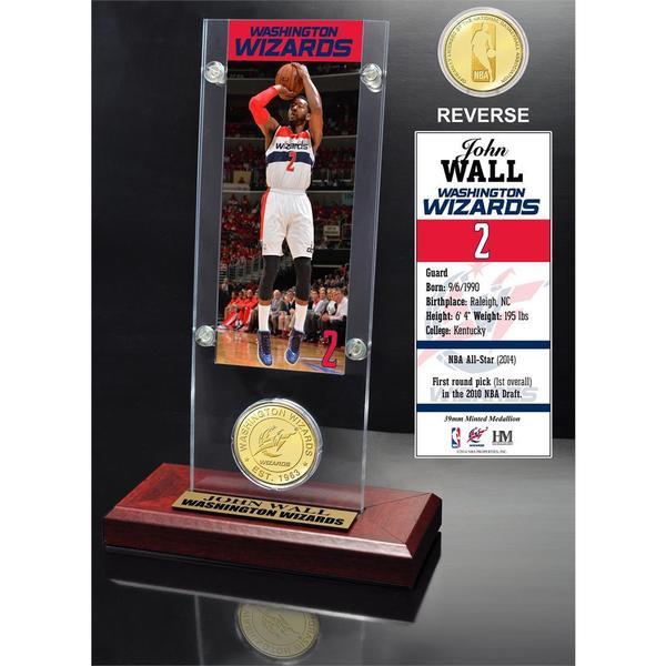 John Wall Ticket & Bronze Coin Acrylic Desk Top