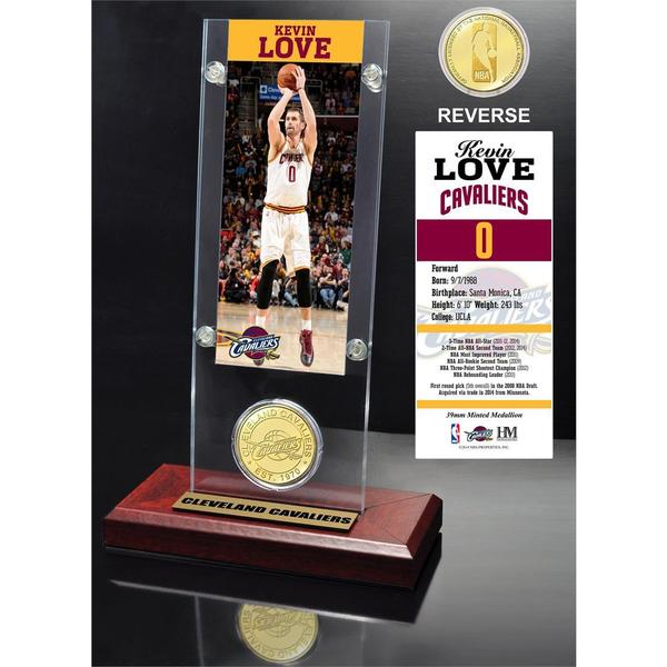 Kevin Love Ticket & Bronze Coin Acrylic Desk Top