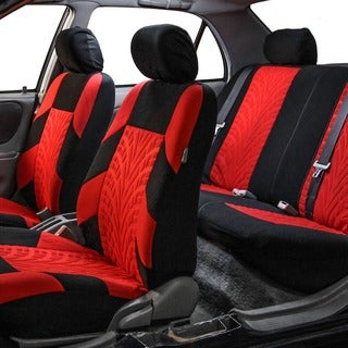 FH Group Red and Black 'Travel Master' Car Seat Covers