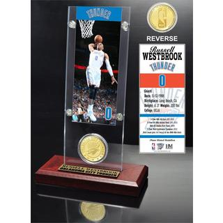 Russell Westbrook Ticket & Bronze Coin Acrylic Desk Top