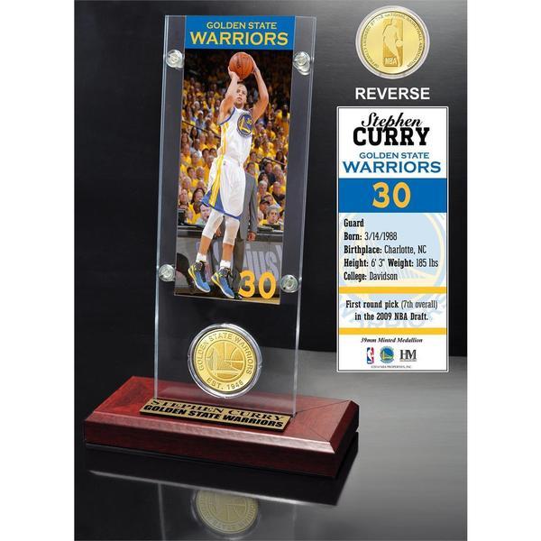Stephen Curry Ticket & Bronze Coin Acrylic Desk Top