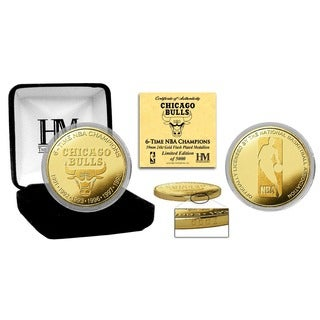 "Chicago Bulls ""6-time NBA Champions"" Gold Mint Coin"
