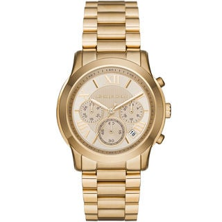Michael Kors Women's MK6274 Cooper Chronograph Gold Dial Gold-Tone Stainless Steel Watch