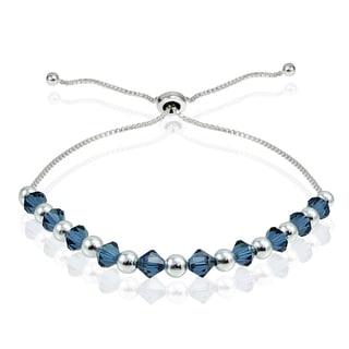 Link to Crystal Ice Sterling Silver Swarovski Elements Adjustable Slider Bracelet Similar Items in Children's Jewelry