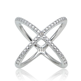 Link to DB Designs Diamond Accent Criss-cross 'X' Ring Similar Items in Rings