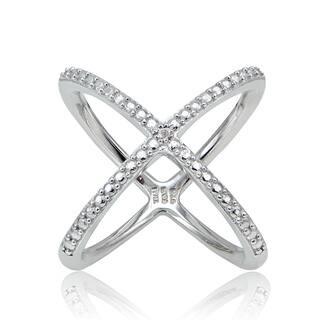 DB Designs Diamond Accent Criss-Cross 'X' Ring|https://ak1.ostkcdn.com/images/products/10790810/P17838359.jpg?impolicy=medium