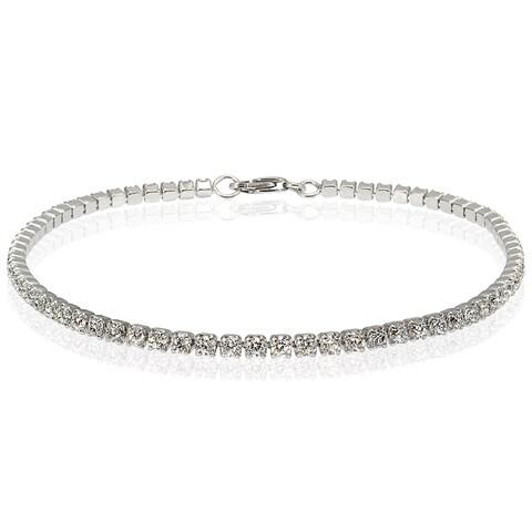 Icz Stonez 4 1/5ct TGW Cubic Zirconia Link Bracelet