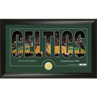 "Boston Celtics ""Silhouette"" Bronze Coin Photo Mint"