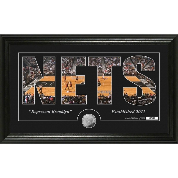 """Brooklyn Nets """"Silhouette"""" Minted Coin Photo Mint"""
