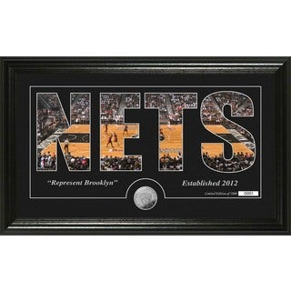 "Brooklyn Nets ""Silhouette"" Minted Coin Photo Mint"