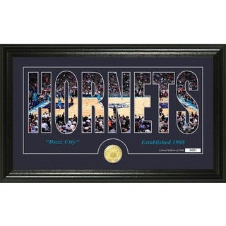 "Charlotte Hornets ""Silhouette"" Bronze Coin Photo Mint"