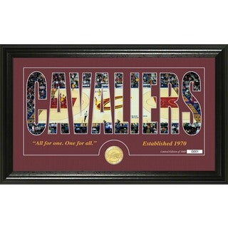 """Cleveland Cavaliers """"Silhouette"""" Bronze Coin Photo Mint"""