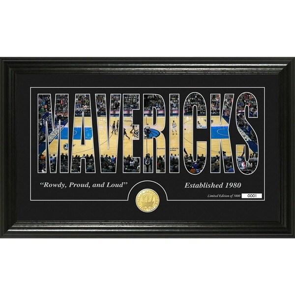 """Dallas Mavericks """"Silhouette"""" Bronze Coin Photo Mint"""
