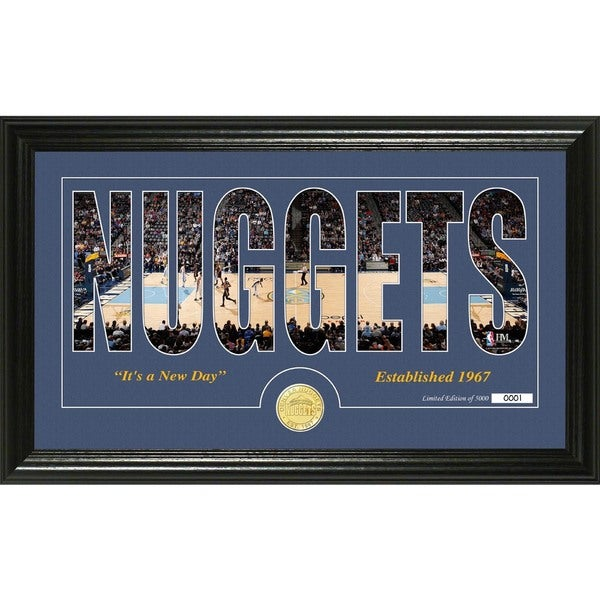 "Denver Nuggets ""Silhouette"" Bronze Coin Photo Mint"