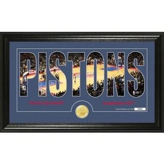 """Detroit Pistons """"Silhouette"""" Bronze Coin Photo Mint"""