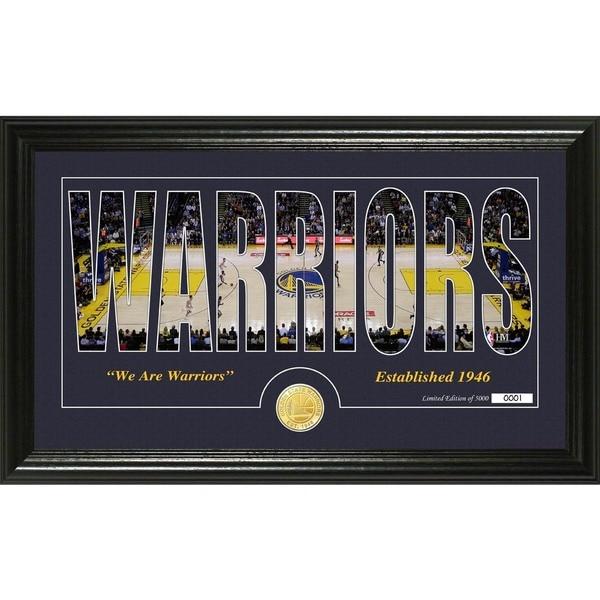 "Golden State Warriors ""Silhouette"" Bronze Coin Photo Mint"