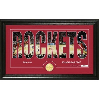"Houston Rockets ""Silhouette"" Bronze Coin Photo Mint"
