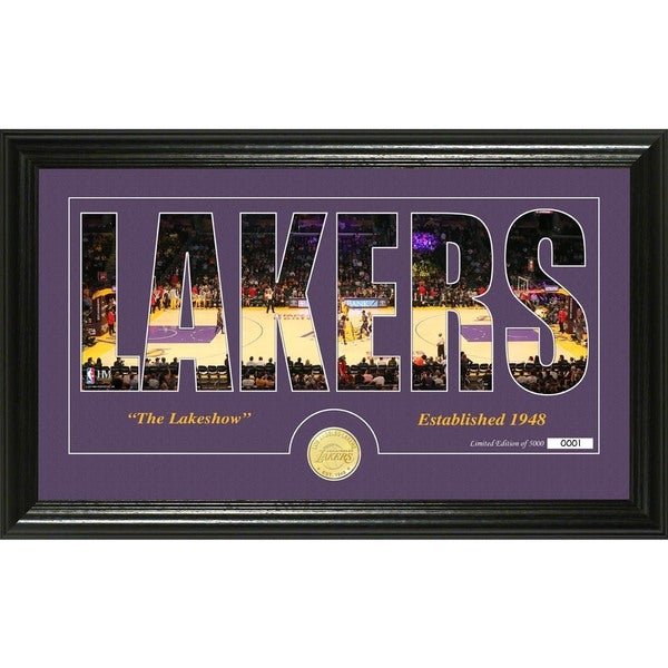 "Los Angeles Lakers ""Silhouette"" Bronze Coin Photo Mint"