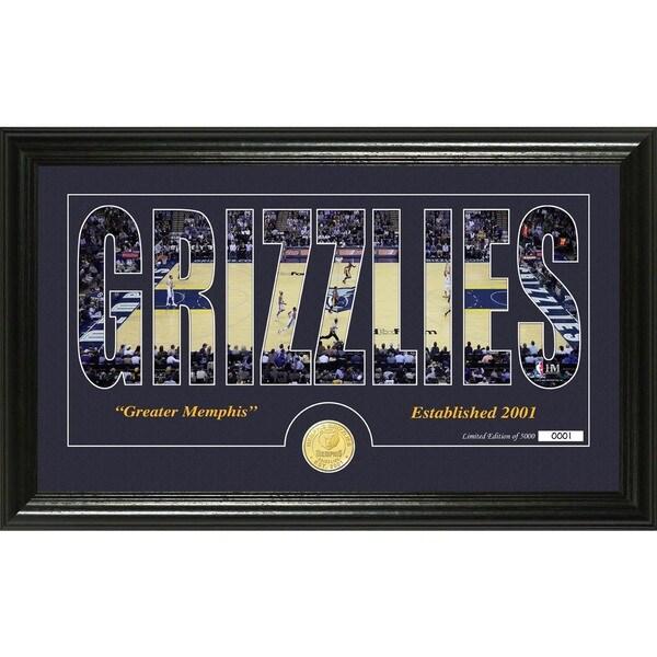 """Memphis Grizzlies """"Silhouette"""" Bronze Coin Photo Mint"""